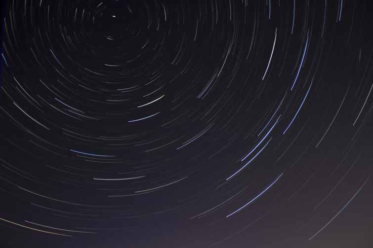 time lapse photo of stars on night