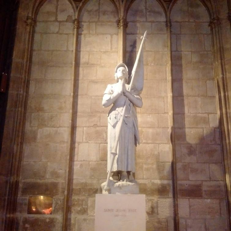 St. Joan of Arc statue in Notre Dame Cathedral, Paris