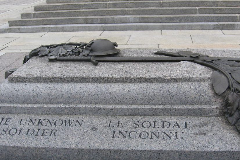 The tomb of the Unknown Soldier at the National War Memorial in Ottawa